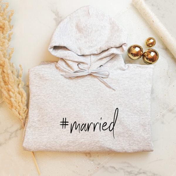 "Damensweatshirt ""#married"""