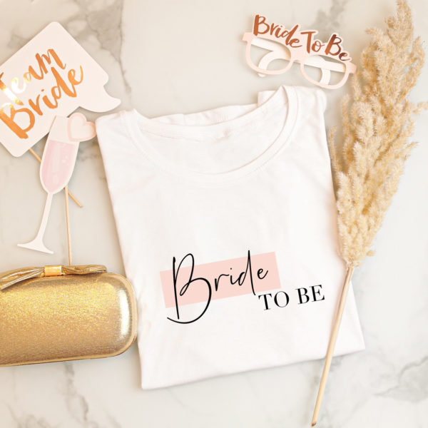"""Damen T-Shirt """"Bride to be"""""""