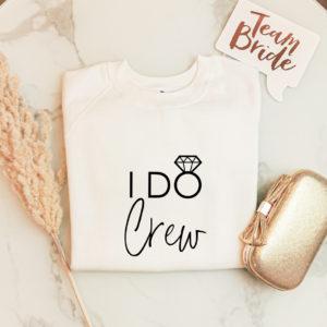 "Damensweatshirt ""I Do Crew"""